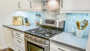 Clear the kitchen counters but not too much.